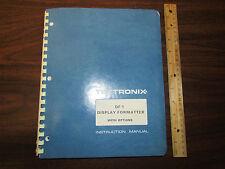 Tektronix DF1 Display Formatter Instruction Manual