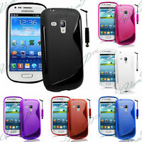 Housses Coque TPU Silicone GEL Soupe S Vague Samsung I8200 Galaxy S III mini VE