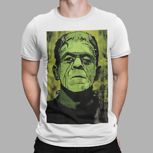Frankenstein T-Shirt Munsters Retro Green Movie Classic Poster Film Gift Tee