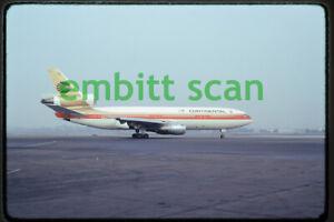 Original Slide, Continental Airlines McDonnell Douglas DC-10-10 (N68042), 1975