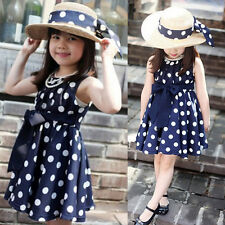 Girl Princess Polka Dot Dress Kids Baby Party Wedding Sundress Dresses 3-4Y