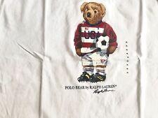 Ralph Lauren Polo Teddy Bear T-Shirt Coppa del Mondo Nuovo di Zecca calcio in