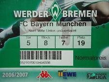TICKET 2006/07 SV Werder Bremen - Bayern München