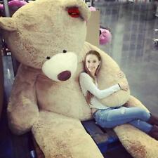 "78"" 200 cm Brown Giant Skin Teddy Bear Big Stuffed Toy Christmas Gift Hot A"