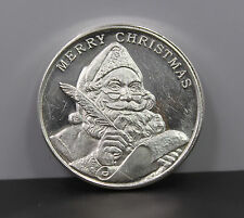 2016 Season's Greetings Merry Christmas 1 ozt .999 Fine Silver Round
