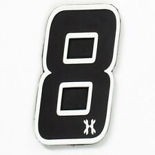 """HK Army Rubber Number Patch W/ Hook + Loop - """"8"""" - Paintball"""