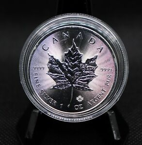 2016 Canada Maple Leaf One Ounce .9999 Fine Silver $5 Coin