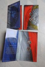 Blister 1 franc 2001 neuf et 1 euro 2001 neuf BU