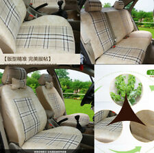 Polyester Flax Fabrics rural style 5 seat car Seat Cushion Mat with Pillows