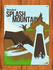 "TIN SIGN Walt Disney ""Disneyland Splash Mountain"" Ride Art Poster"