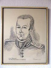 Michel Reneault 1815 Oberbürgermeister von Saarlouis , Leo Grim Saarlouis Tusche