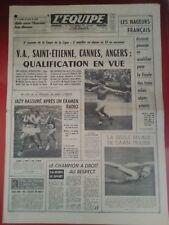 journal  l'équipe 21/08/63 FOOT COUPE DE LA LIGUE BONNEL HAGBER SALOMON