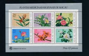 Macao 482a Mint NH Souvenir sheet, flowers