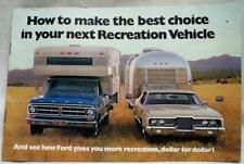 FORD RV VEHICLES ADVERTISING IMFORMATIONAL SALES BROCHURE GUIDE FEBRUARY 1971