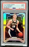 2019 Prizm SILVER REFRACTOR Spurs LUKA SAMANIC Rookie Card PSA 9 MINT - Pop 188