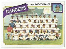 1980 TOPPS BASEBALL #41 RANGERS TEAM CHECKLIST - EXCELLENT-