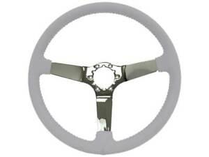 1977-82 Chevrolet Corvette OE Series Chrome Center Steering Wheel - Grey
