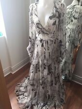 Zara 100% Silk Maxi Dress Wedding Occasion, Size Medium