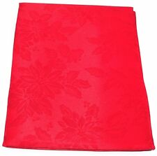 Christmas Xmas Poinsettia Dinning Kitchen Party Table Cloth Cover Red