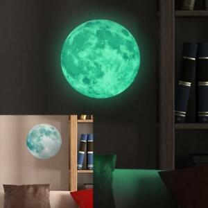 Glow in the Dark Moon Star Wall Sticker Home Art Decor Kids Room Decals BB