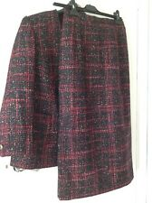 BRAND NEW, EASTEX WOOL MIX SKIRT SUIT, SIZE 10, MULTI COLOUR, TWEEDY, 60% wool