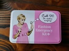 Hollywood Fashion Secrets Fashion Emergency Kit Metal Tin Lint Remover Sewing