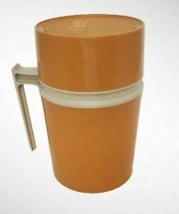 Vintage Thermos Hot or Cold Food Container Gold Model 7002 10 oz EUC