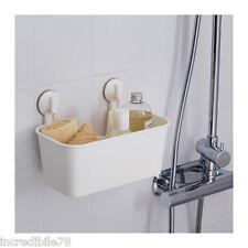 IKEA STUGVIK Cestello con ventosa, bianco, porta sapone doccia