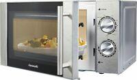 Hanseatic 65509859 Mikrowelle Grill Auftaufunktion 20 L mit Zubehör Silber