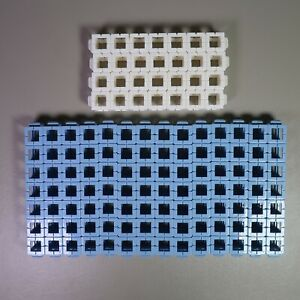 18pc Rokenbok 7 X 1 Blue White Straight BEAMS Connector Blocks Replacement Lot