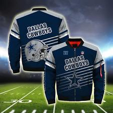 Dallas Cowboys Pilot Bomber Jacket MA1 Flight Thicken Coat Football Fans Outwear