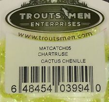 Troutsmen Chartreuse Cactus Chenille Fly Tying Material