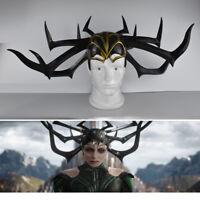 Marvel:Ragnarok Thor Avengers Hela Helmet Headwear Mask Cosplay Costumes Prop