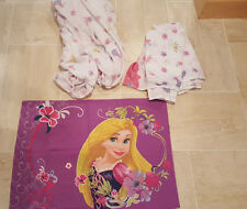 DISNEY RAPUNZEL TWIN FLAT AND FITTED and 1 pillowcase TANGLED WATCH ME SHINE