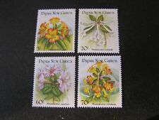 PAPUA NEW GUINEA, SCOTT # 703-706((4),1989 COMPLETE SET RHODODENDRONS ISSUE MVLH