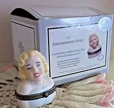 Phb Collection Marilyn Monroe Bust w/ Faux Pearls Porcelain Trinket Box