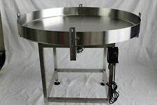 """NEW ACCUMULATION ROTARY TABLE 36"""" DIAMETER-STAINLESS STEEL-MADE IN THE USA"""