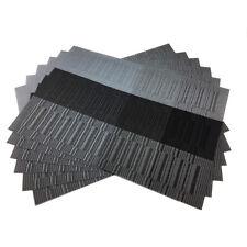 Silver Placemats Set of 6 PVC Woven Vinyl Place Mats Heat Insulation Table Mats