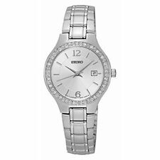 Seiko Stainless Steel Case Women's Analogue Wristwatches