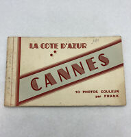 Vintage Postcards Cannes France Booklet 10 Photos Booklet