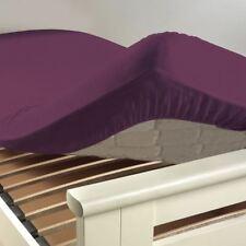Douceur D'intérieur - Drap Housse Uni coton 57 fils Myrtille 140 x 190 cm