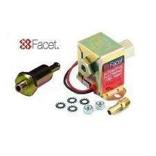 FACET 40104 SOLID STATE CUBE FUEL PUMP 2.0 - 4.0 PSI + 8mm UNION + FUEL FILTER