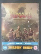 JUMANJI - WELCOME TO THE JUNGLE (LTD UK Steelbook, Blu Ray, New, Sealed, Rare)
