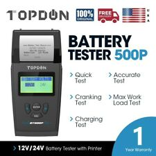 New 12V 24V Car Battery Tester with Printer 250Ah Charging Cranking Test 1700CCA