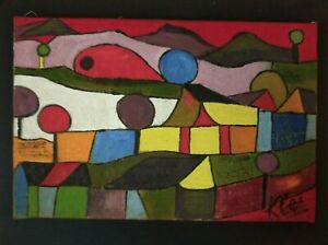 Paul Klee   Wonderful Oil Painting  signed on old canvas.