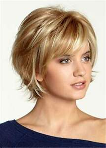 Short Choppy Layered Wavy Synthetic Hair women Wig