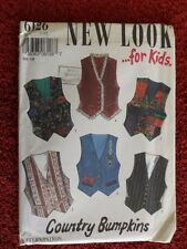 New Look 6126 Boys and Girls Lined Vest Sizes 7 to 12 - UNCUT