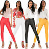 Women Leather Look Trousers High Waist Faux Skinny Pants Pants Stretch Leggings
