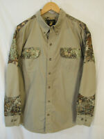 unworn King's Outdoor Men's Long Sleeve Button Up Shirt w/ Camo Details Size M