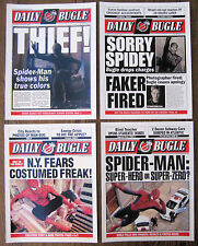 """Spiderman - Daily Bugle 8.5"""" x 11'' Front Page - Prints  [ Set of Four ]"""